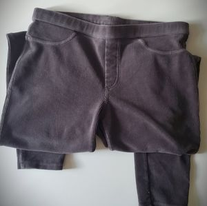 HUE Leggins Gray Corduroy Jeggings Pants Medium